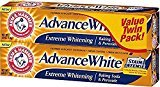 Arm & Hammer Advance White Extreme Whitening Baking Soda and Peroxide Toothpaste, Fresh Mint, Twin Pack 6 oz (Pack of 4)