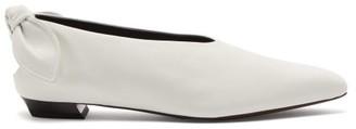 Proenza Schouler Knot-heel Leather Flats - White