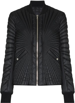 Moncler + Rick Owens Zip-Up Padded Bomber Jacket