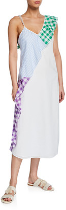 Marysia Swim East End Gingham Ruffle Coverup Dress