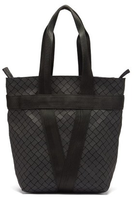 Bottega Veneta Intrecciato Rubber Tote Bag - Black