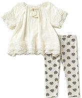 Jessica Simpson Baby Girls 12-24 Months Crinkled Top & Printed Leggings Set