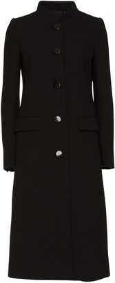 Givenchy Single-breasted Wool Coat In Black