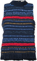 Sea knitted tank top - women - Cotton - S