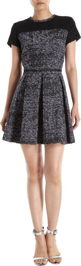 Proenza Schouler Short Sleeve Tweed Dress