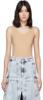 MM6 MAISON MARGIELA Beige Sleeveless Bodysuit
