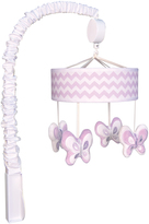 Trend Lab Lilac Orchid Bloom Chevron Musical Mobile