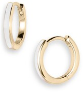 Jennifer Zeuner Jewelry Victoria Enamel Huggie Hoop Earrings