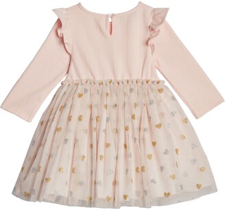 Pippa & Julie Ruffle Foil Heart Dress