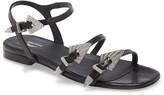 Zadig & Voltaire Paros Crystal Buckle Ankle Strap Sandal