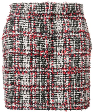 Thom Browne Checked Tweed Skirt