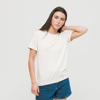 Blïi Blii - Crudo Vigore Crew Neck 002 T-Shirt - S - Natural/White