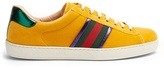 Gucci New Ace low-top velvet trainers