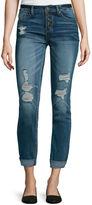 INDIGO REIN Indigo Rein Button-Fly Skinny Jeans