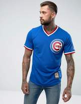 Majestic Mlb Chicago Cubs Overhead Baseball Jersey In Blue