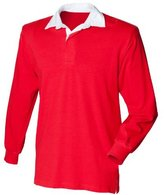 Front Row Big Boys' long sleeve plain rugby shirt XL