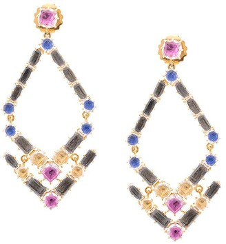 Larkspur & Hawk Caterina Trapezoid chandelier earrings