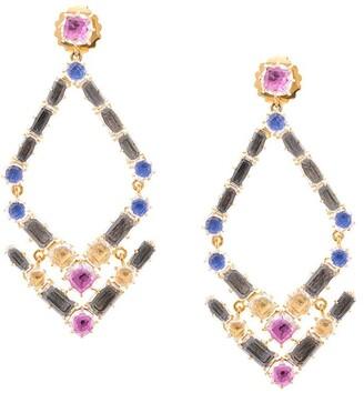 Larkspur & Hawk Caterina Trapezoid chandelier earrings