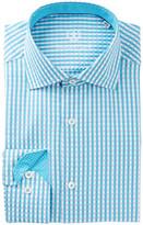 Bugatchi Trim Fit Gingham Check Dress Shirt