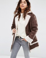 Asos Vintage Style Faux Shearling Coat