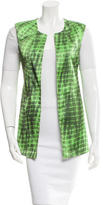 Alexis Printed Asymmetrical Vest w/ Tags