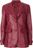 Prada leather blazer