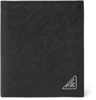 Prada Logo-Appliqued Saffiano Leather Billfold Wallet
