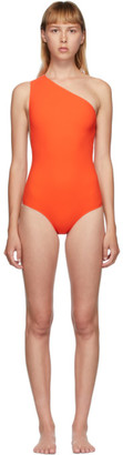 Bottega Veneta Orange One-Shoulder One-Piece Swimsuit