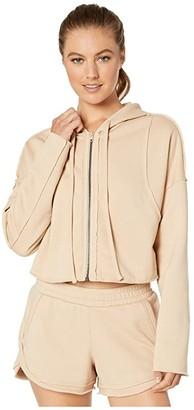 Alo Cruiser Crop Jacket (Putty) Women's Clothing