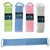 Back Strap Body Scrubber with Handles (Assorted Color) by Salud