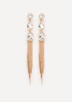 Bebe Crystal Droplet Earrings
