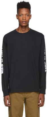 Noah NYC Black War Is Hell Long Sleeve T-Shirt