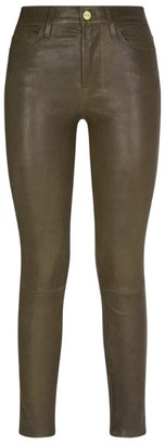 Frame Leather Le High Skinny Jeans