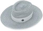 Maison Michel ribbon-trimmed boater hat