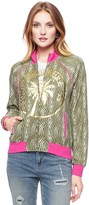 Juicy Couture Agate Animal Micro Terry Jacket