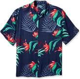 Cubavera Cuba Vera Men's Big-Tall Short Sleeve Allover Tropical Print Shirt,