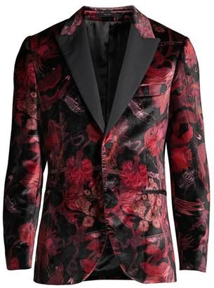 Paul Smith Goliath Floral Velvet Blazer