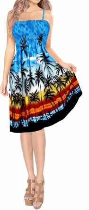 LA LEELA Soft All in 1 Beachwear Ladies Prom Casual Evening Holidays Sundress Tunic TOP Bandeau Bikini Cover up Loungewear Maxi Skirt Women's Dress