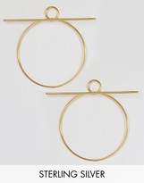 Lavish Alice Sterling Silver Gold Plated Hoop Bar Oversized Earrings