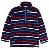 Joules Navy Multi Stripe Half Zip Fleece