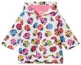 Hatley White Rainbow Ladybirds Mini Raincoat
