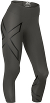 2XU Steel & Black Reflective 7/8 Mid-Rise Compression Leggings