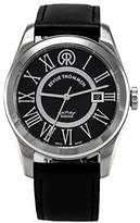 Revue Thommen Millennium - Classic Men's Automatic Watch with Black Dial Analogue Display and Black Leather Strap 103.01.02