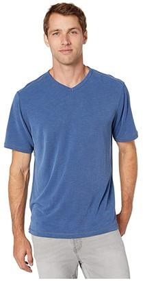 Tommy Bahama Tropicool Paradise IslandZone V-Neck T-Shirt (Ash Grey) Men's Clothing