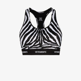 Vetements Zebra-Print Sports Bra