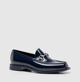 Gucci Blue Rubber Horsebit Loafer
