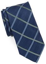 Black Brown 1826 Silk Windowpane Tie