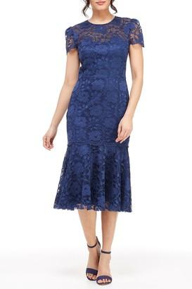 Gal Meets Glam Eve Illusion Lace Midi Dress