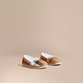 Burberry Leather and House Check Espadrilles