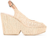 Robert Clergerie slingback woven wedge sandals